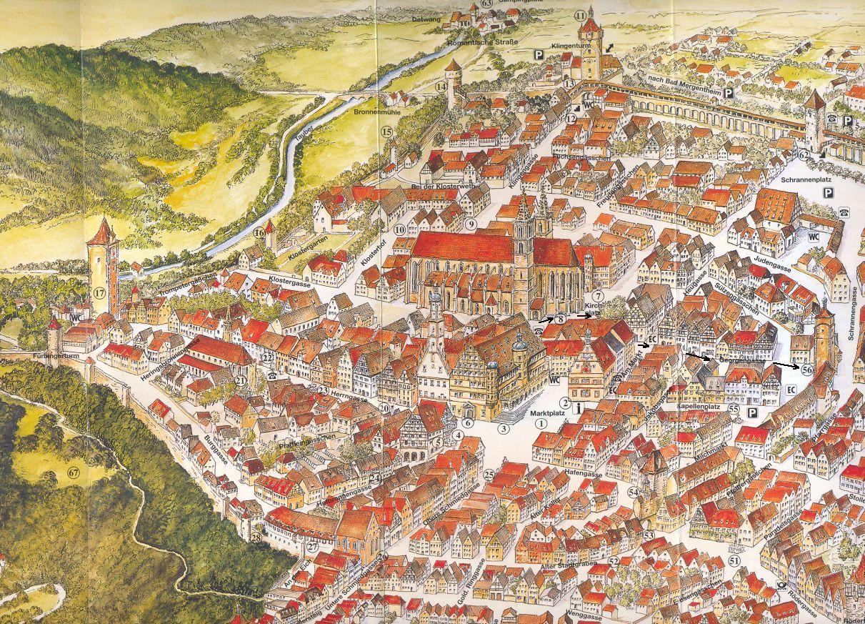 kőszeg látnivalók térkép Rothenburg o.d.T. – 13. rész – Városnéző séta | Fölöttem a felhő kőszeg látnivalók térkép