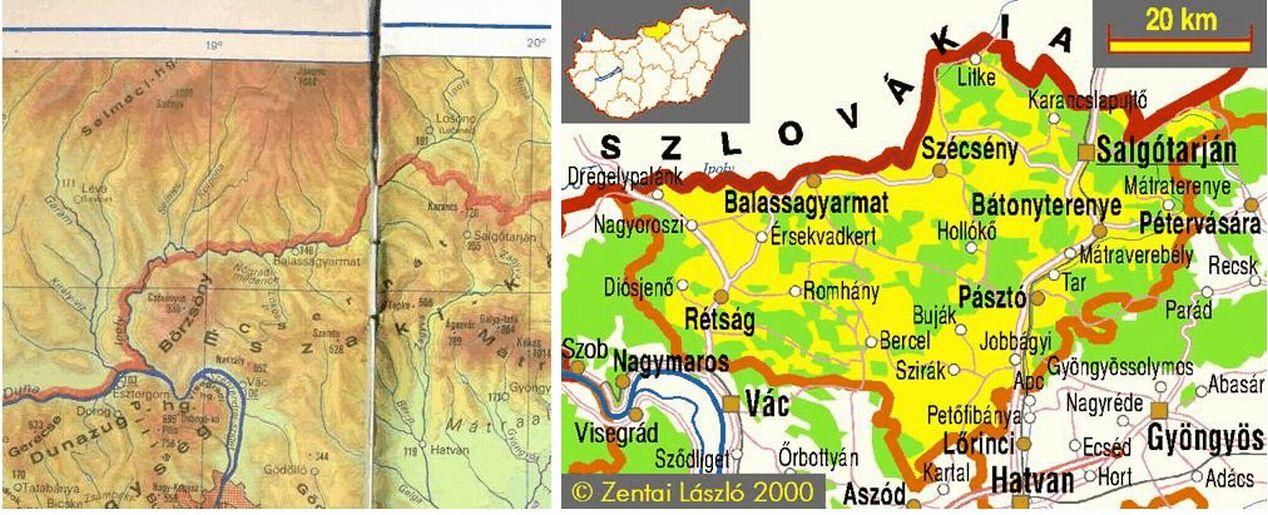 északi középhegység térkép Őszi utazás az Északi Középhegységben 02. – Cserhát | Fölöttem a felhő északi középhegység térkép