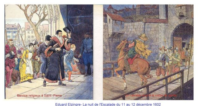 Eduard Elzingre- La nuit de l'Escalade du 11 au 12 décembre 1602