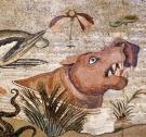 House of the Faun - Nile mosaic exedra bejáratánál