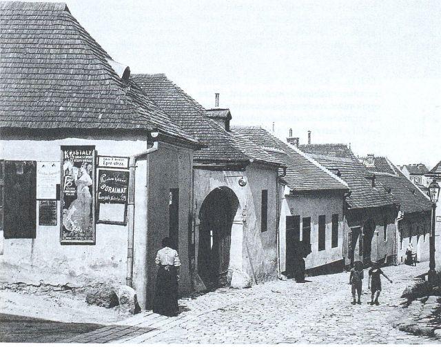 Hadnagy utca a Tabánban 1910 k.
