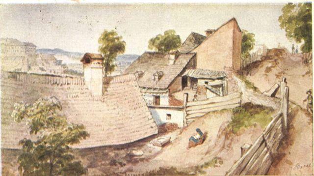 Barabás_Miklós-_Gellérthegy,_vízfestmény_1838 - OSZK
