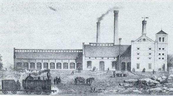 1863 Litográfia -Dreher féle sörgyár