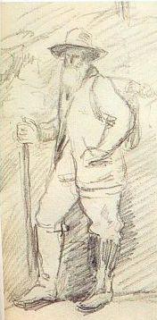 Camille Pissaro, Cézanne rajz 1873 körül