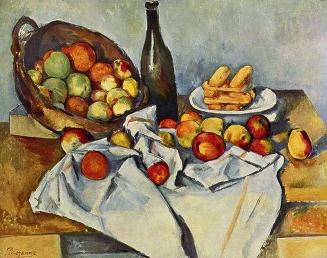Cézanne - almáskosár, 1893 körül