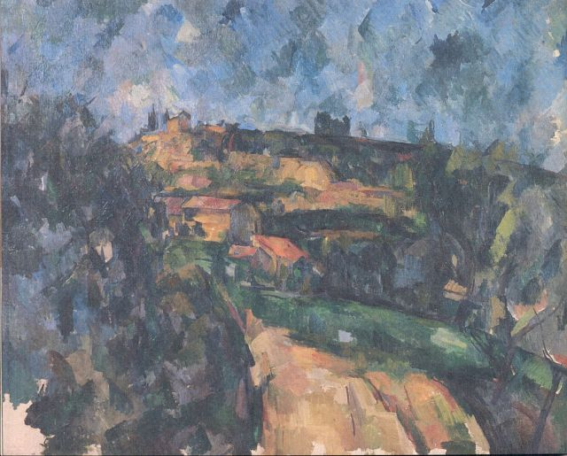 Cézanne- Kanyarodó út a Chemin des Lauves tetején 1904-1906