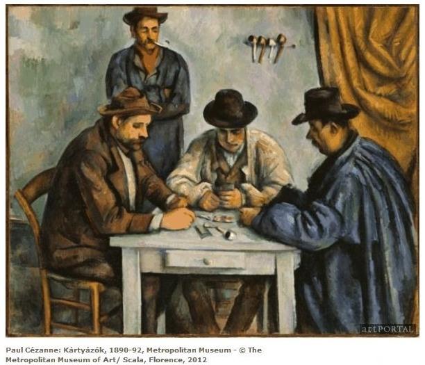 Cézanne - Kártyázók, 4-es