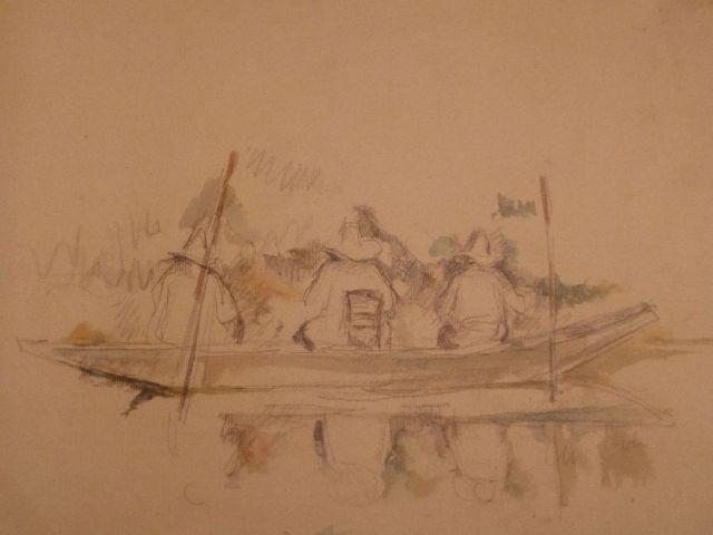 Cézanne rajza- Hárman a csónakban P1040959