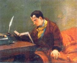 Courbet: Baudelaire portréja