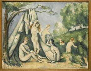 Cézanne-Fürdőzők -1883-85