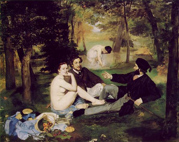 Manet- Reggeli a szabadban, 1863