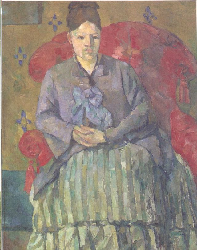 Mme Cezanne vörös karosszékben, 1877- Boston Fine Museum