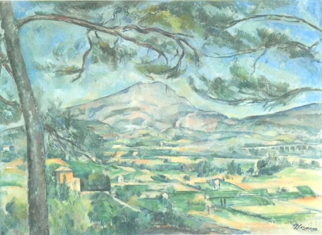 Montagne Sainte Victoire a nagy píneával 1886-87