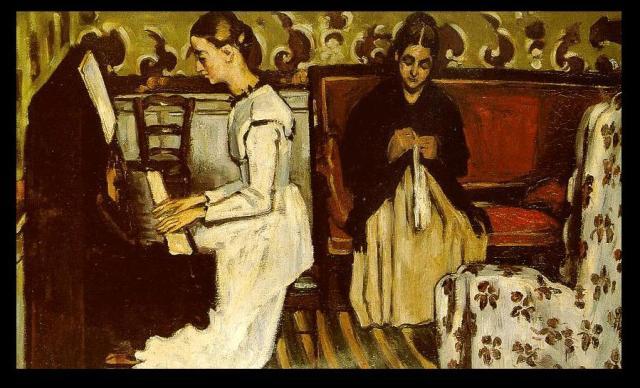 Paul Cézanne- Lány a zongoránál (Tannhäuser-nyitány) 1868-69