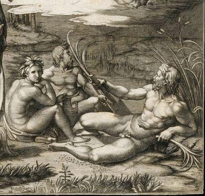 Raffaello- Páris ítélete-Marcantonio Raimondi metszete nyomán