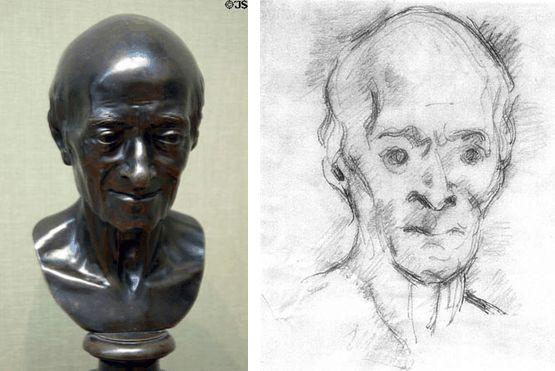 Voltaire szobor és rajz