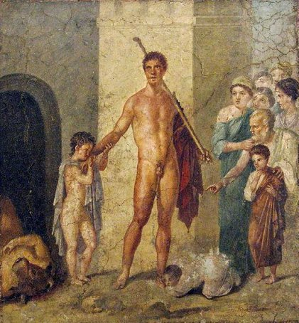 House of Gavius Rufus - Theseus being honoured by the Athenians00 00 1e