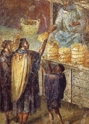 House of Julia Felix - fresco of market Pompeii