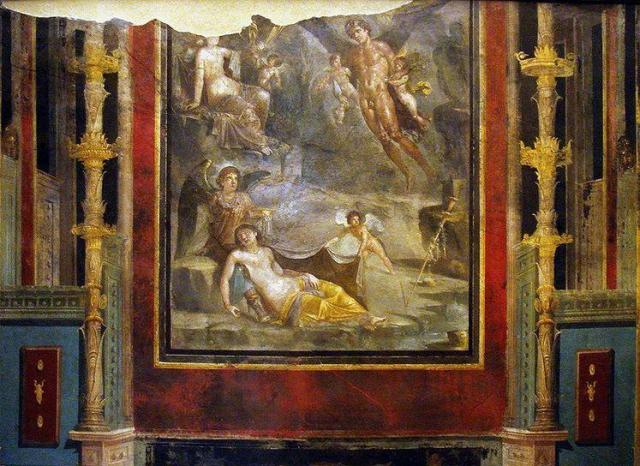 House of the Ship - fresco of Zifiro and Cori (Wedding of Zephyr and Flora) Pompeii