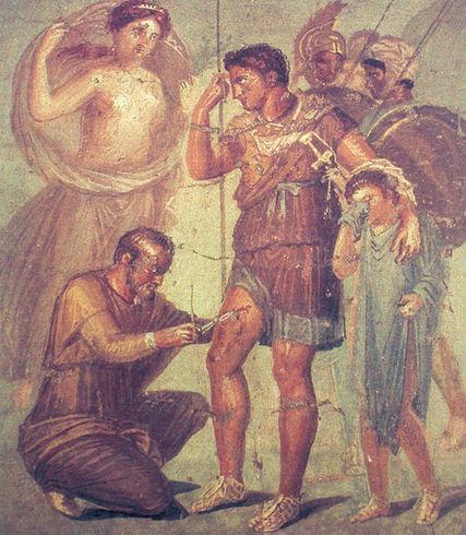 House of the Surgeon - fresco Pompeii