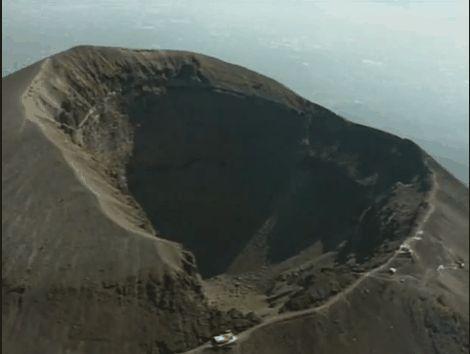 Vezúv kráter