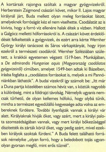A budai fürdőkről- Forrás- Mindennapi történelem, Mátyás kora
