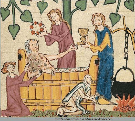 Fürdés- Manesse kódex