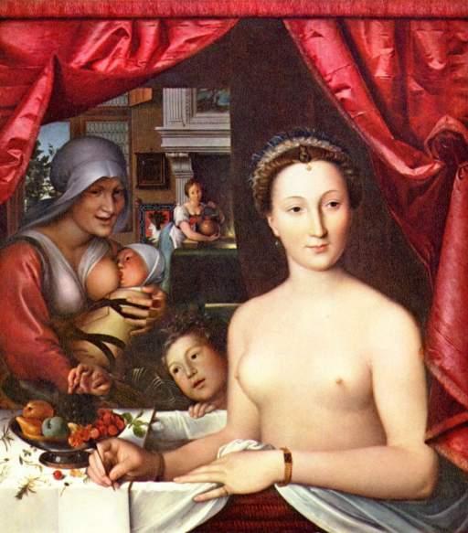 François_Clouet (1515-1572) Fürdő nő 1571