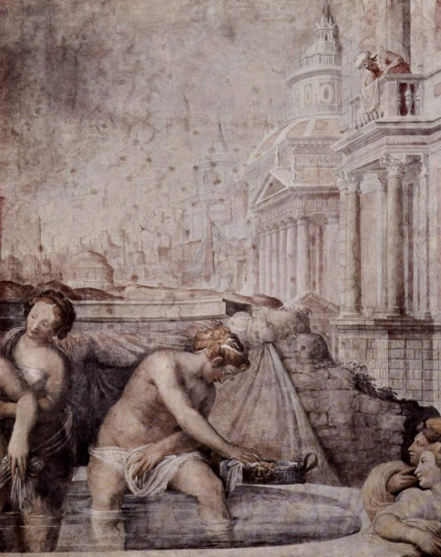 Francesco Salviati - Bad der Bathseba-1552-54-Palazzo Sacchetti-Roma