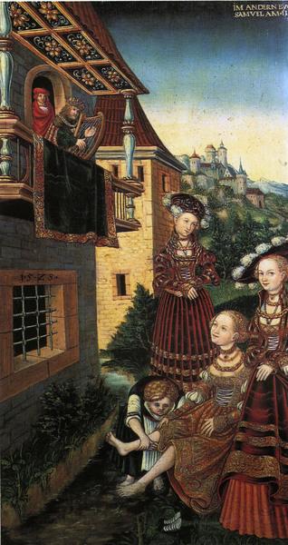 Lucas Cranach the Elder - King David and Bathsheba-1526-2