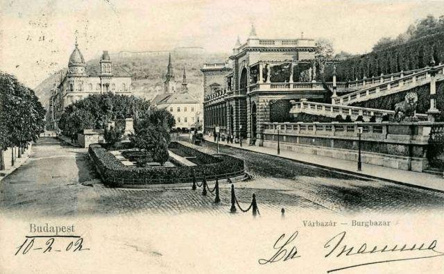 Lyka palota, Ybl kioaszk, Várbazár 1902