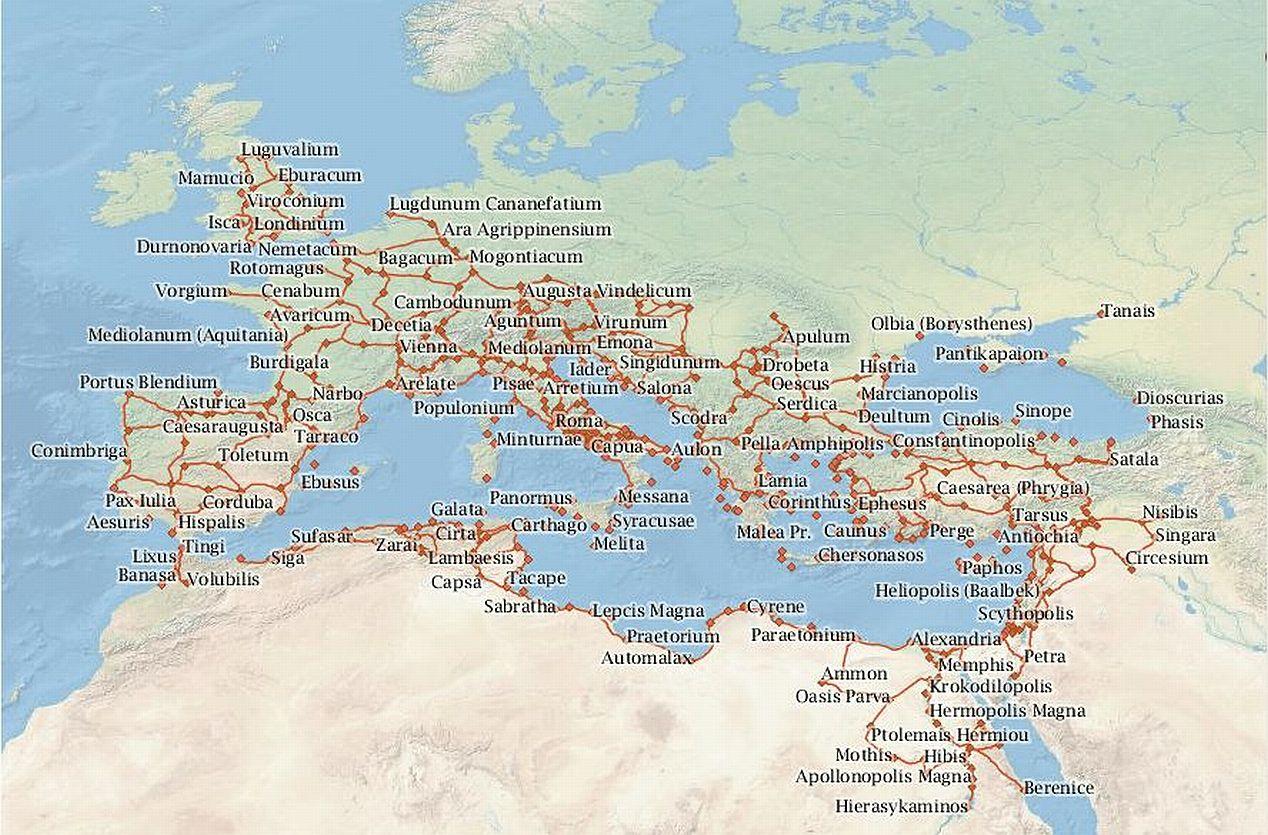 római birodalom térkép Utazás a Római Birodalomban | Fölöttem a felhő római birodalom térkép