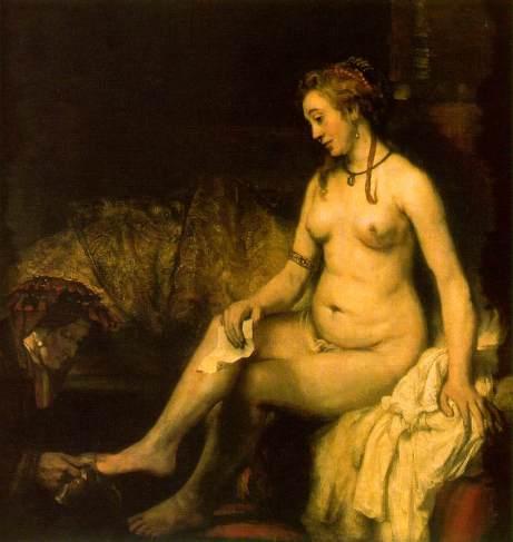 rembrandt-betshabé a fürdőben 1654