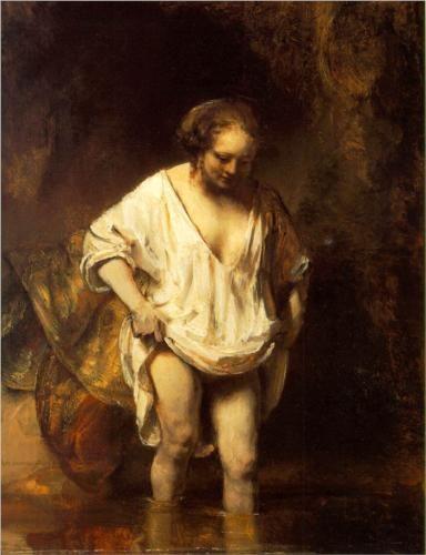 Rembrandt_ Hendrikje a folyóban fürdik,1654, London
