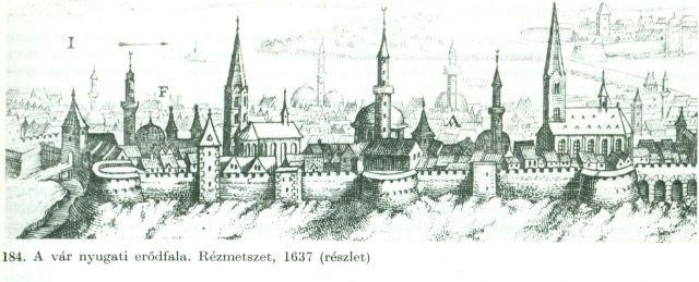 A vár erődfala 1637