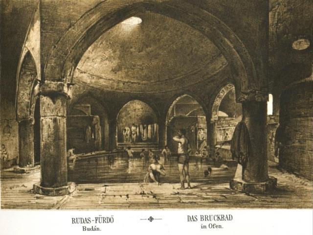 budapest-rudas-furdo-1845 Alt metszetén