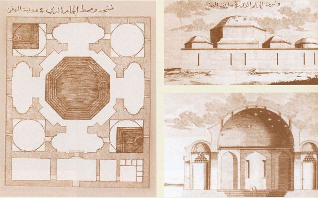 Császár fürdő alaprajza 1600-as évek