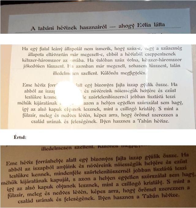 Evlia Cselebi a tabáni hévízekről 2