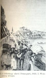Gellérthegy alatti Duna part, 1835 Weisenberg kőrajza-Bp. története 0006