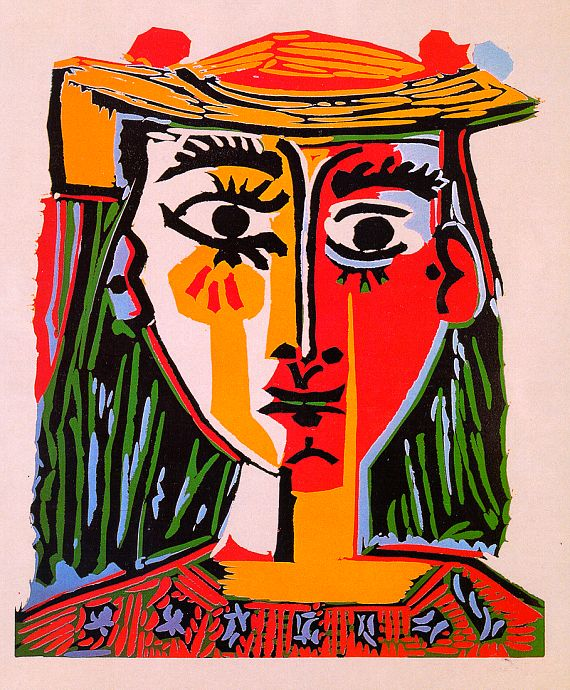 picasso - bust of a woman with a hat 1962