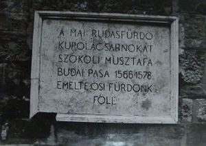 Rudas - Szokoli Musztafa emléktábla P1100334