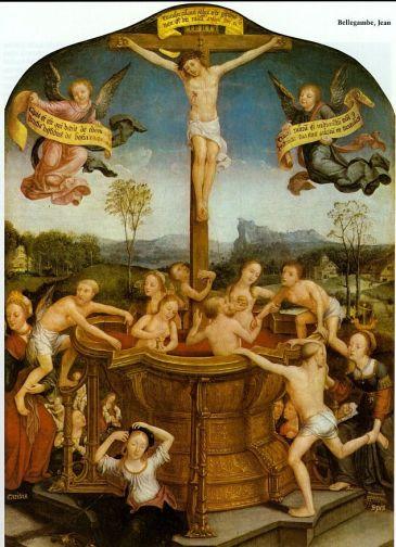 Jan Bellegambe - Misztikus fürdő Jézus vérében (1526)