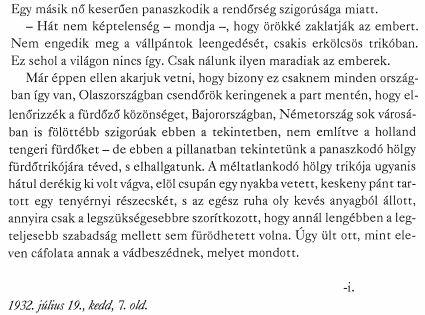 Kosztolányi jegyzet- Pesti Hírlap
