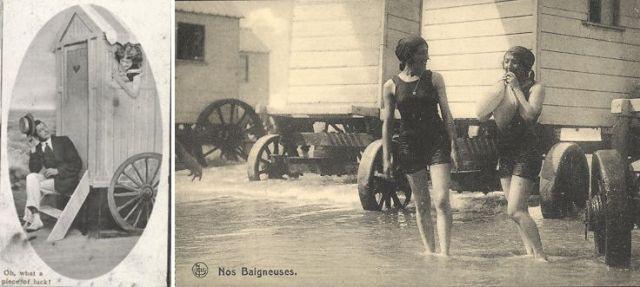Umkleidewagen am Wasser
