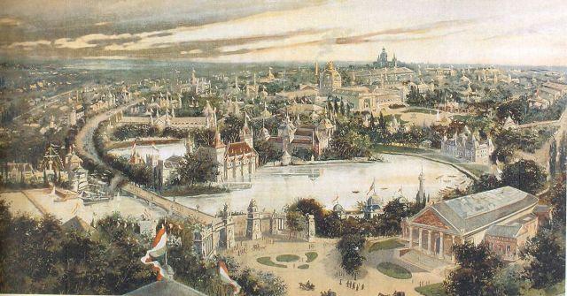 1896 Az Ezredéves kiálítás távlati képe