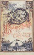 Budapest fürdői -könyvcímlap 1891
