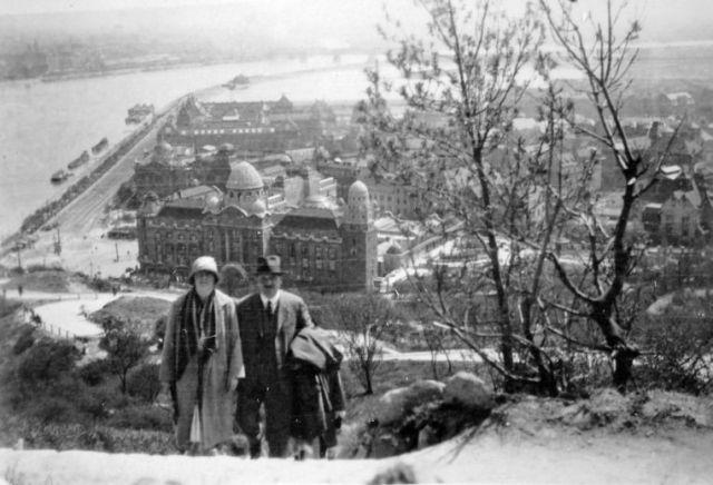 Gellért Szálló felett 1929 -Fortepan 6952