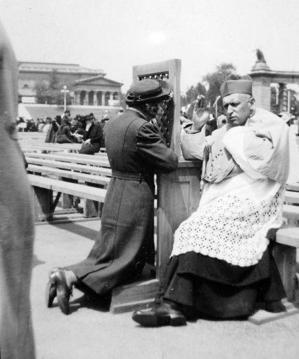 Hősök tere, mozgó gyónás 1935-37 7334