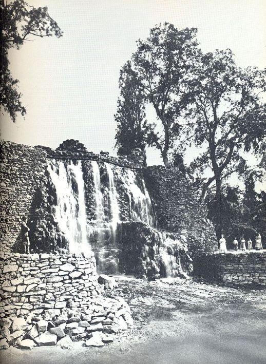 Margitsziget, vízesés 1900 k. 0002