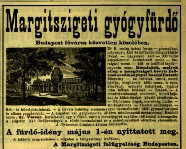 Margitszigeti gyógyfürdő -Vasárnapi Ujság kinagyít